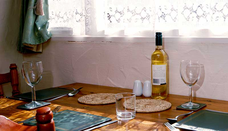 Forge Self Catering Cottage: Relax with a Bottle of Wine