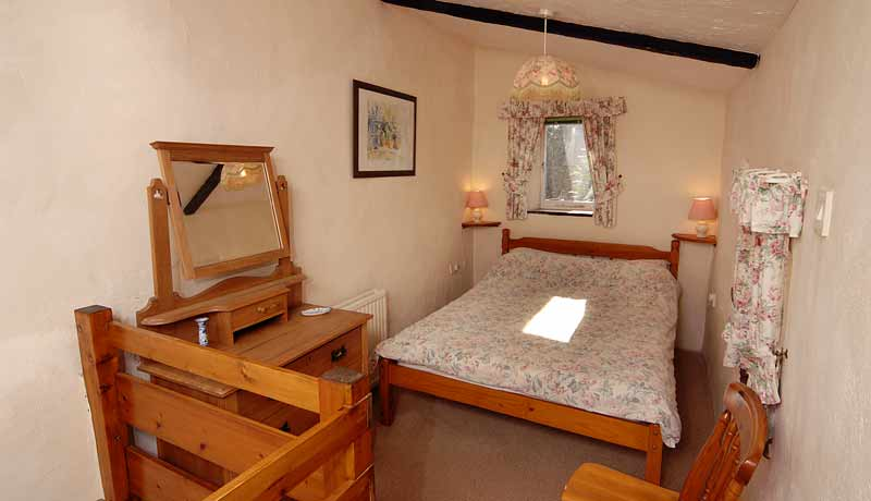 The Double Bedroom at Saddlers Self Catering Cottage