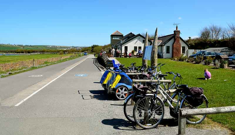 Fremington Quay Cafe on the Tarka Trail Cycle Route near Muddlebridge House