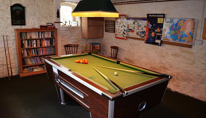 Muddlebridge House Games Room Pool Table